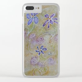 Three Flowers Clear iPhone Case