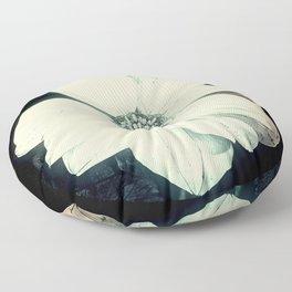 White Dahlia, Christmas Star Floor Pillow