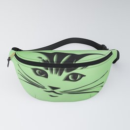 Green Cat Face Fanny Pack