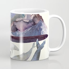 Whales Swiming under the Moutains Coffee Mug