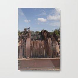 Steel Cables Metal Print