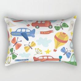 Kids Air Transportation Rectangular Pillow