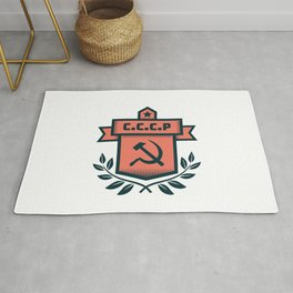 CCCP Modern Coat of Arms Rug