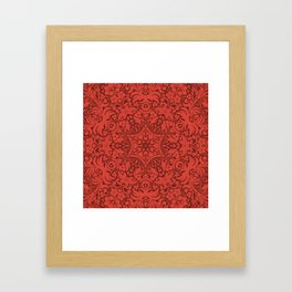 Sonora Brown Rust Mandala With Red Well Read Backdrop Framed Art Print