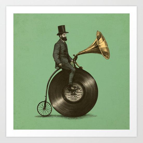 Music Man (Green Option) Art Print