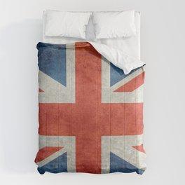 British flag of the UK, retro style Comforters