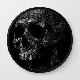 Stipple Skull Wall Clock