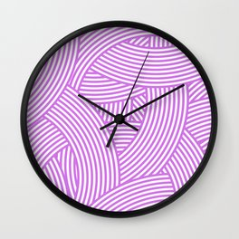 New Weave in Radiant Orchid Wall Clock