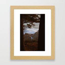 Forest Meets the Ocean Framed Art Print