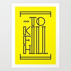 Typography & Font Art Print