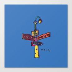 Traffic signal Canvas Print