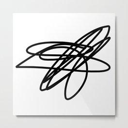 scribble Metal Print