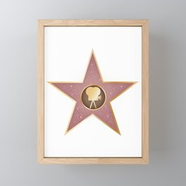 Celebrity Star Framed Mini Art Print