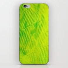 Yellow and Green Stripes iPhone & iPod Skin