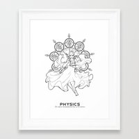 physics Framed Art Prints featuring Physics by Verdant Winter