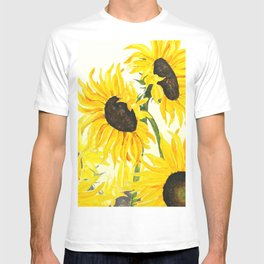 sunflower watercolor 2017 T-shirt