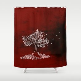 Wind Red Shower Curtain