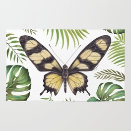 Butterfly Painting   Hahnel's Amazonian Swallowtail   PARIDES HAHNELI   Nature   Animal Art Rug