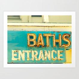 Baths Art Print