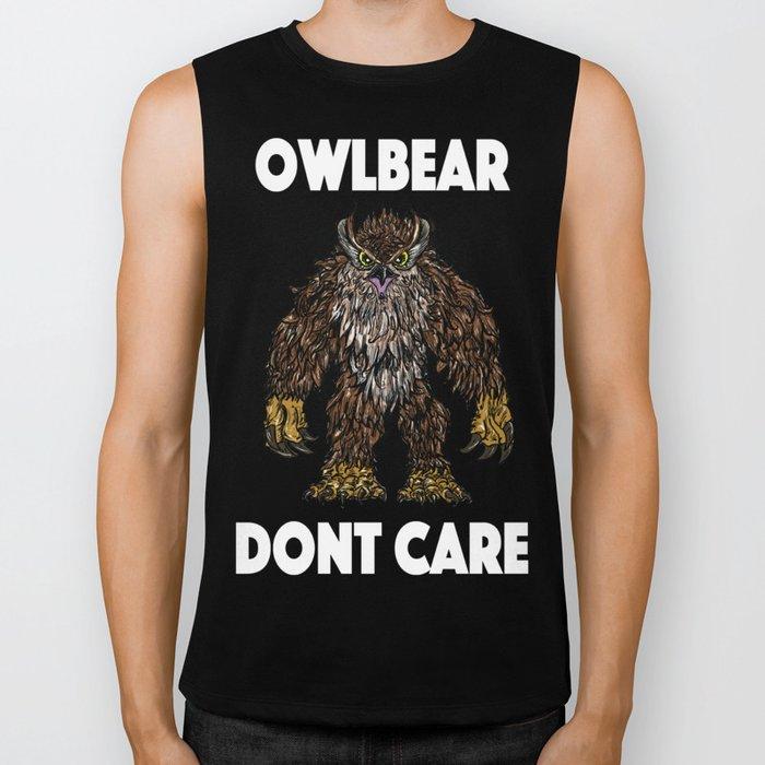 Owlbear Dont Care Biker Tank