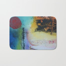 Rising sun colourful abstract acrylic Bath Mat