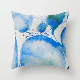 Blue Study Throw Pillow