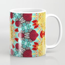 Golden Lace Aqua Mandala Coffee Mug