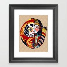 Japenese Dharma Framed Art Print