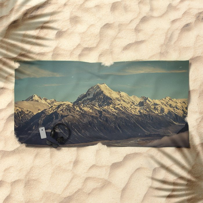 Vintage Mountain Beach Towel