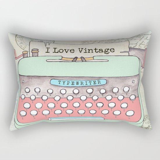 Typewriter #2 Rectangular Pillow