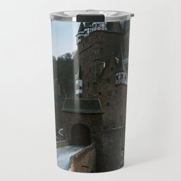 Fairytale Castle in a winter forest in Germany - Landscape and Architecture Travel Mug