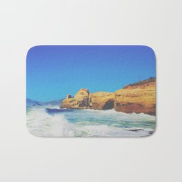 Cape Kiwanda Crashing Waves Bath Mat