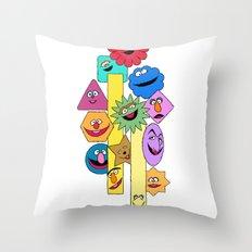 F.R.I.E.N.D.S.H.A.P.E.S. Throw Pillow