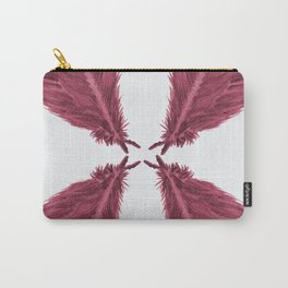 Feather Fan - Bordeux Carry-All Pouch