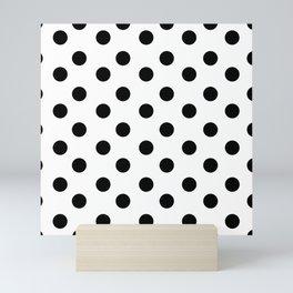 White & Black Polka Dots Mini Art Print