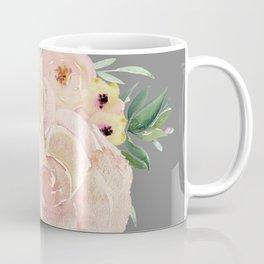 Wild Roses on Dark Gray Coffee Mug