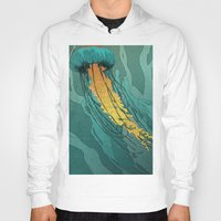 jellyfish Hoodies featuring Jellyfish  by Stranger Designs