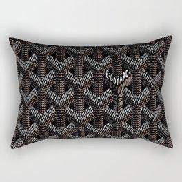 Goyard Black Rectangular Pillow