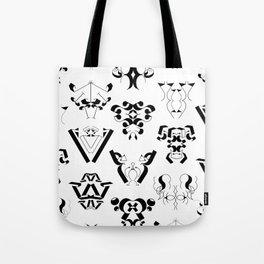 0-9 - Black & White Tote Bag