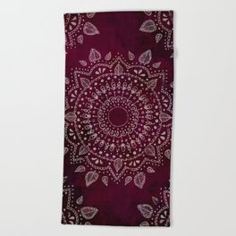 Wine Mandala Beach Towel