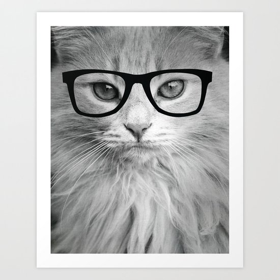 THE HIPPEST CAT Art Print