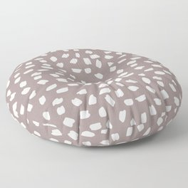 Simply Ink Splotch Lunar Gray on Red Earth Floor Pillow