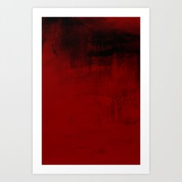 Abstract art in deep red Art Print