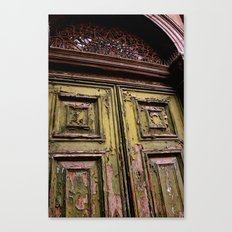 Green Door 2 Canvas Print