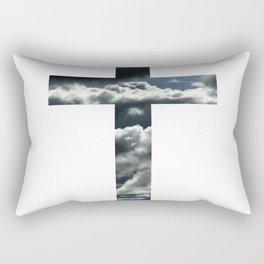 Clouds Cross Rectangular Pillow