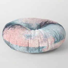 Pink and Blue Oasis Floor Pillow
