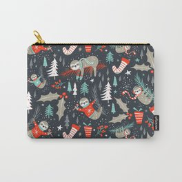 Slothy Holidays Carry-All Pouch