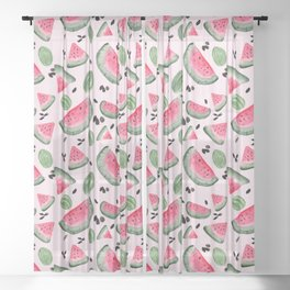 Watermelon Patch Sheer Curtain