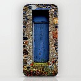 The Blue Door of Ballymascanlon iPhone Skin