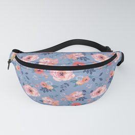 Peony-Wedgewood Fanny Pack